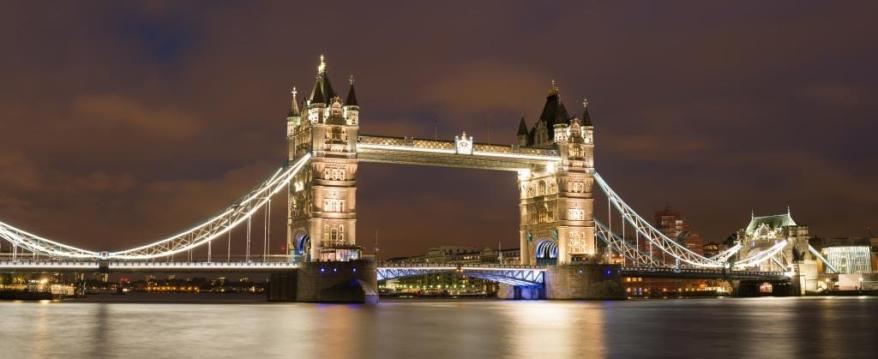 London Tower bridge on sunset