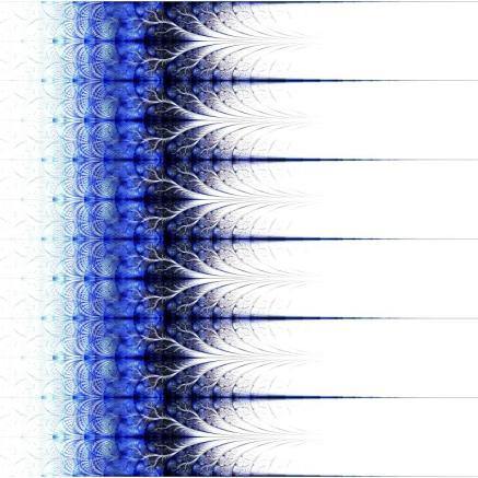 Symmetrical fractal flower blue, digital artwork for creative