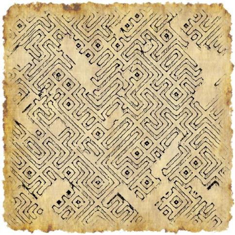 Abstract dungeon map generated texture
