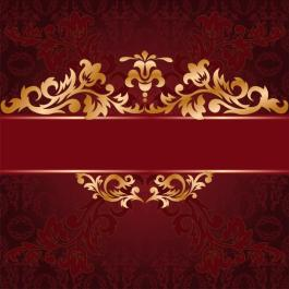 red background with a gold ornate ornaments