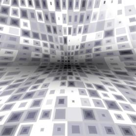 Abstract grey geometric art, squares background.