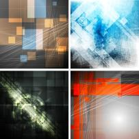 Abstract grunge technology backgrounds. Raster backdrops set