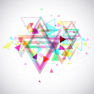 Abstract background of hexagon triangle geometry polygon and element shape for poster and website decoration design, create by vector