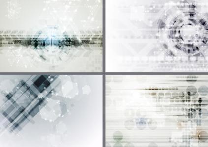 Set of abstract light tech design set. Raster backgrounds