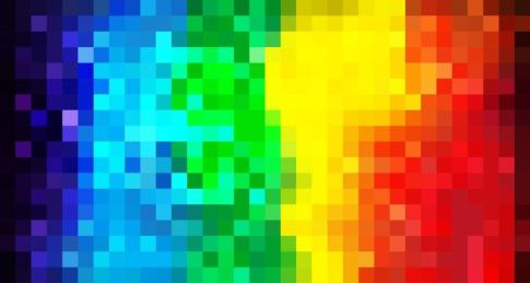 Rainbow mosaic background