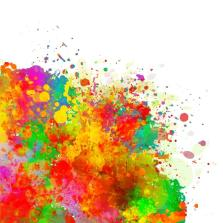 Abstract colorful splash watercolor background.