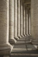 Columns in Hallway at Saint Peter's Square