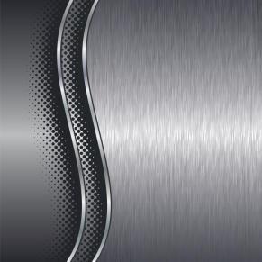 Brushed aluminium metal plate background with halftone border