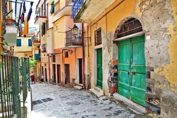 charming mediterranean streets, Cinque terre, Italy