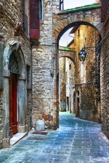 beautiful old streets of Italian medieval towns,Tody