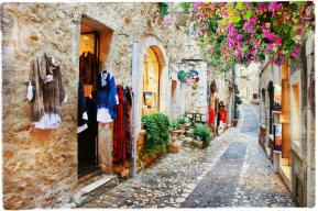 Villages of Provence- Sait-Paul de Vence, artistic picture