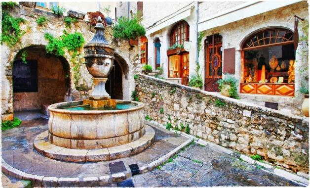 Saint-Paul de Vence- charming village in Provence, France.