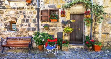 authentic charming streets of medieval villages of Italy,Bolsena